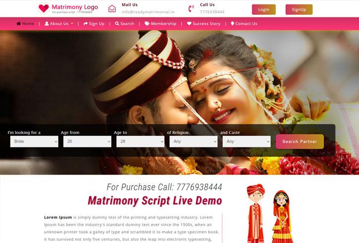 Matrimony website template